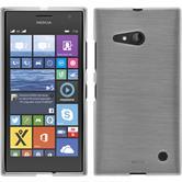 Silikon Hülle Lumia 730 brushed weiß