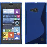 Silikon Hülle Lumia 730 S-Style blau