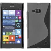 Silikon Hülle Nokia Lumia 730 S-Style clear + 2 Schutzfolien