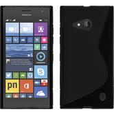 Silikonhülle für Nokia Lumia 730 S-Style schwarz