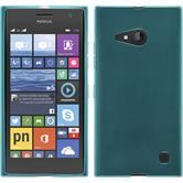 Silikon Hülle Lumia 730 transparent türkis