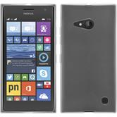 Silikon Hülle Nokia Lumia 730 transparent weiß + 2 Schutzfolien