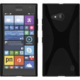 Silikon Hülle Lumia 730 X-Style schwarz