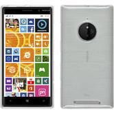 Silikonhülle für Nokia Lumia 830 brushed weiß