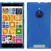 Silikon Hülle Lumia 830 S-Style blau