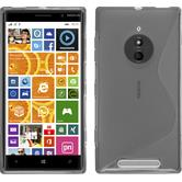 Silikon Hülle Nokia Lumia 830 S-Style grau + 2 Schutzfolien