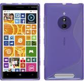 Silikon Hülle Nokia Lumia 830 S-Style lila + 2 Schutzfolien