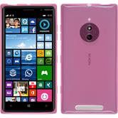 Silikon Hülle Nokia Lumia 830 transparent rosa + 2 Schutzfolien