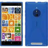 Silikon Hülle Lumia 830 X-Style blau