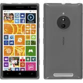 Silikon Hülle Nokia Lumia 830 X-Style grau + 2 Schutzfolien