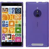 Silikon Hülle Nokia Lumia 830 X-Style lila + 2 Schutzfolien