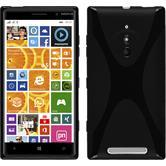 Silikon Hülle Nokia Lumia 830 X-Style schwarz Case
