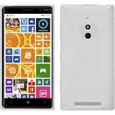 Silikon Hülle Nokia Lumia 830 X-Style weiß + 2 Schutzfolien