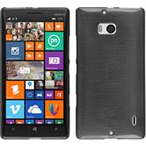 Silikon Hülle Lumia 930 brushed silber