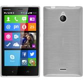 Silikon Hülle Nokia X2 brushed weiß + 2 Schutzfolien