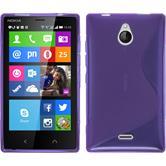 Silikon Hülle Nokia X2 S-Style lila + 2 Schutzfolien