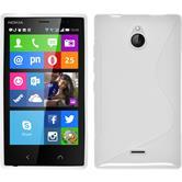 Silikon Hülle Nokia X2 S-Style weiß + 2 Schutzfolien