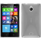 Silikon Hülle Nokia X2 X-Style clear + 2 Schutzfolien