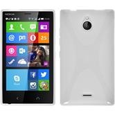 Silikon Hülle Nokia X2 X-Style weiß + 2 Schutzfolien