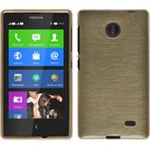Silicone Case for Nokia X / X+ brushed gold