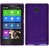 Silicone Case for Nokia X / X+ brushed purple