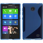 Silicone Case for Nokia X / X+ S-Style blue