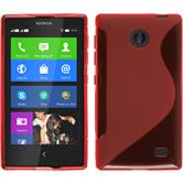 Silicone Case for Nokia X / X+ S-Style red