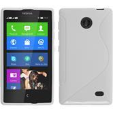 Silikon Hülle Nokia X / X+ S-Style weiß + 2 Schutzfolien