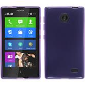 Silicone Case for Nokia X / X+ transparent purple