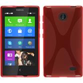 Silicone Case for Nokia X / X+ X-Style red