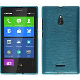 Silicone Case for Nokia XL brushed blue