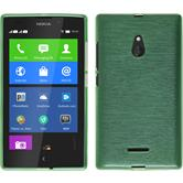 Silicone Case for Nokia XL brushed green