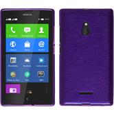 Silicone Case for Nokia XL brushed purple