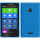 Silicone Case for Nokia XL matt blue