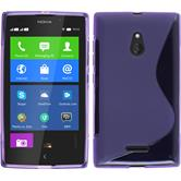 Silicone Case for Nokia XL S-Style purple