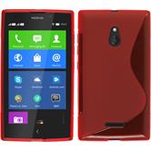 Silicone Case for Nokia XL S-Style red