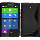 Silicone Case for Nokia XL S-Style black
