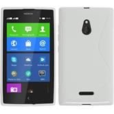 Silicone Case for Nokia XL S-Style white