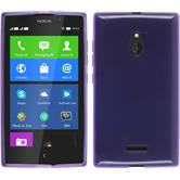 Silicone Case for Nokia XL transparent purple