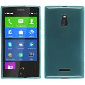 Silicone Case for Nokia XL transparent turquoise