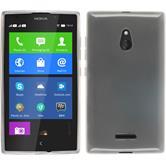 Silikon Hülle Nokia XL transparent weiß + 2 Schutzfolien
