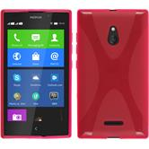 Silicone Case for Nokia XL X-Style hot pink