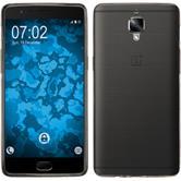 Silikon Hülle OnePlus 3 Slimcase grau + 2 Schutzfolien