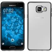 Silikon Hülle Galaxy A3 (2016) A310 Slim Fit grau + 2 Schutzfolien