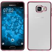 Silikon Hülle Galaxy A3 (2016) A310 Slim Fit pink + 2 Schutzfolien