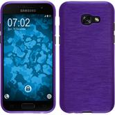 Silikon Hülle Galaxy A3 2017 brushed lila + 2 Schutzfolien