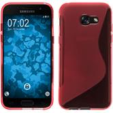Silikon Hülle Galaxy A3 2017 S-Style rot + 2 Schutzfolien