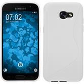 Silikon Hülle Galaxy A3 2017 S-Style weiß + 2 Schutzfolien