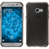 Silikon Hülle Galaxy A3 2017 Shock-Proof grau + 2 Schutzfolien