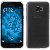 Silikon Hülle Galaxy A3 2017 transparent Crystal Clear + 2 Schutzfolien